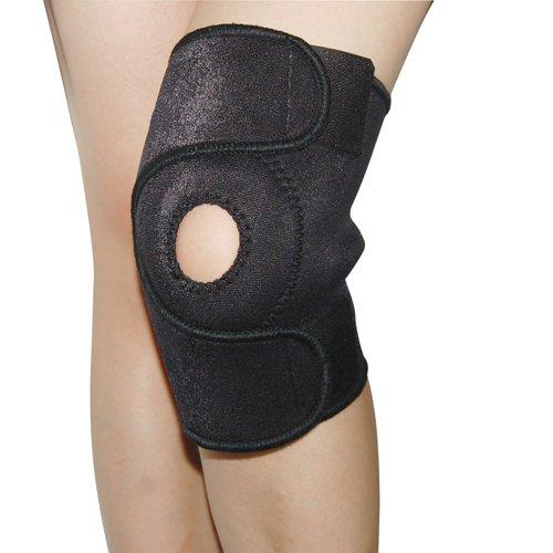 WMA Black Elastic Neoprene Knee Brace Fastener Support