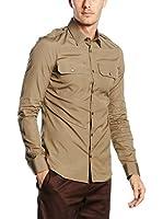 Belstaff Camisa Casual Harfield (Beige)