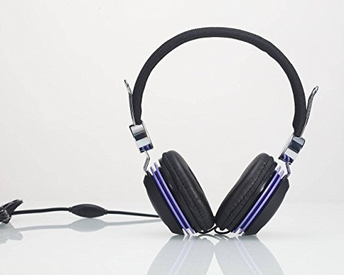 Premium Over-Head Stereo Headset Headphones With Microphone For Amazon Kindle Fire Hdx 8.9/ Fire Phone/ Kindle Fire Hd (2013)/ Kindle Fire Hdx 7/ Kindle Fire Hd 8.9/ Hd 7/ Kindle Fire 2 (Purple) + Mynetdeals Stylus