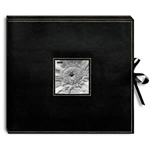Sewn Leatherette D-Ring Scrapbook Box (12