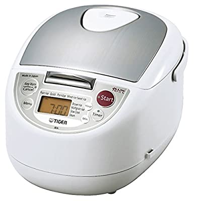 Tiger JBA-T18U WU 10 Cup (Uncooked) Micom Rice Cooker and Warmer with Steam Basket, Urban White, Urban White by Tiger