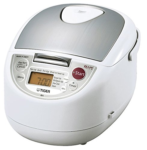 Tiger JBA-T10U-WU 5.5-Cup (Uncooked) Micom Rice Cooker with Food Steamer & Slow Cooker, White (Tiger Food compare prices)