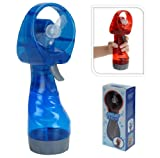 NEW PORTABLE HAND HELD BATTERY POWER FAN AIR WATER MIST BOTTLE COOLING SPRAY (BLUE)