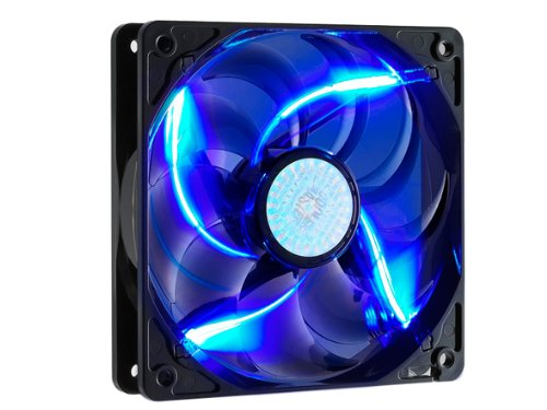 Cooler Master SickleFlow 120 – Sleeve Bearing 120mm Blue LED Silent Fan for Computer Cases, CPU Coolers, and Radiators