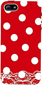 PrintVisa Pattern Polka Dots Red Case Cover for Apple iPhone 5C