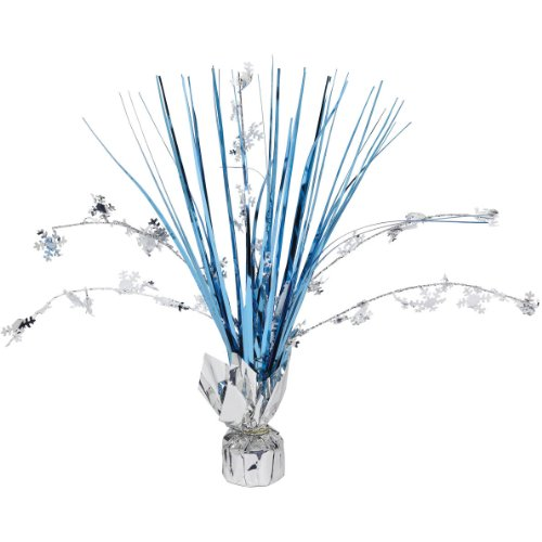 "Snowflake 12"" Foil Spray Centerpiece (Each)"
