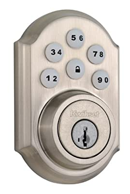 Kwikset Satin Nickel SmartCode Signature Series Single Cylinder Deadbolt 99090-