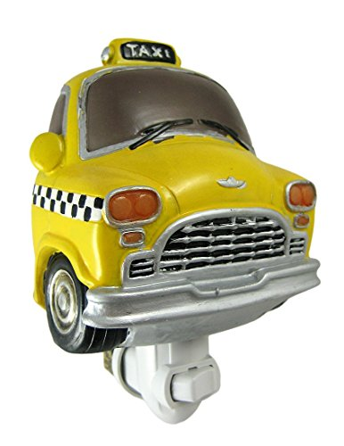 Retro Look Yellow Cab Night Light Taxi Taxicab Car