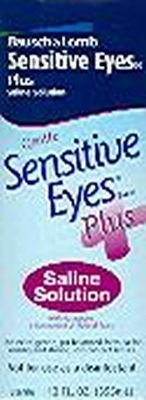 Bausch & Lomb Sensitive Eyes Plus Saline Solution-12 oz, 3 pack