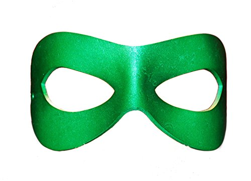 Green Superhero Leather Mask Mardi Gras Batman Halloween Masquerade Unisex
