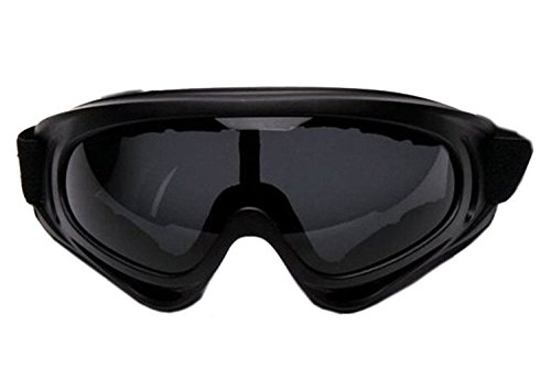ALLMILL UV Protection Outdoor Sports Ski Glasses Windproof Snowmobile Bicycle Motorcycle Protective Glasses Ski Goggles-CS Army Tactical Goggles (Grey)