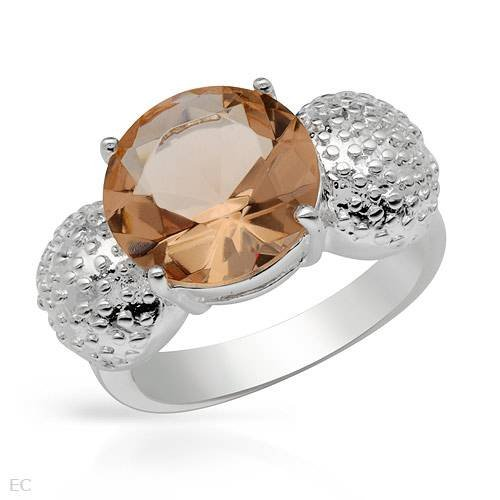 Cocktail Ring With Simulated gems Beautifully Crafted in 925 Sterling silver. Total item weight 6.2g (Size 7)