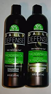 DAILY DEFENSE Shampoo And Conditioner With Macadamia Oil 16 Oz