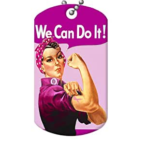 Amazon.com: Pink Rosie the Riveter, Breast Cancer Awareness - Dog Tag