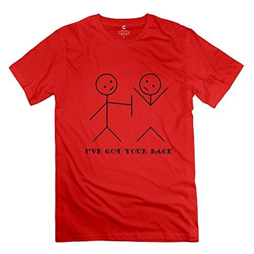 Tgrj Men'S T Shirt - Cute Ive Back Tshirt Red Size M