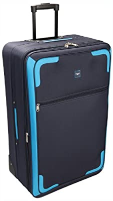SKYFLITE Medium Cabin Travel Trolley Luggage Suitcase Bag Case Navy Blue 22""