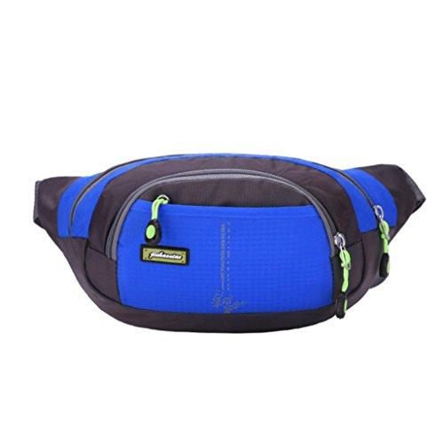 Sport Marsupio Clode® Esecuzione Bum Travel Borsa Handy Escursionismo Sport Cintura Marsupio Zip Pouch (Colour : Blu)
