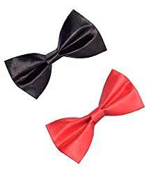 Greyon Black And Red Bow Tie (GNA014)