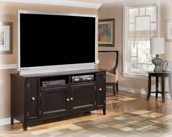 Almost Black Contemporary Large TV Stand
