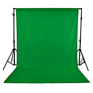 Andoer 1.6 x 3M / 5 x 10FT Photography Studio Non-woven Backdrop Background Screen 3 Colors Black White Green