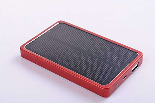 JJF Bird TM Solstar Solar Panel Charger 4000mah USB Port Portable Charger Backup External Battery Power Pack for Iphone 5s 5c 5 4s 4, Ipods(apple Adapters Not Included), Samsung Galaxy S5 S4, S3, S2, Note 3, Note 2, Most Kinds of Android Smart Phones ,Windows Phone and More Other Devices (red)