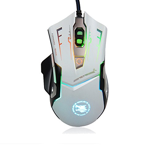 k-ray-wired-gaming-mouseprofessional-ergonomic-2000-dpi-metal-chassis-game-mice-for-pc-laptop-white