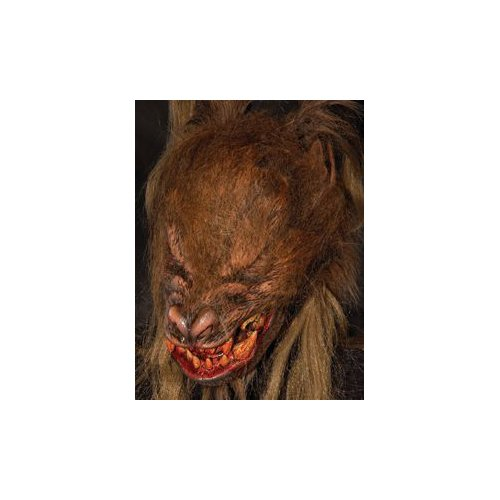 Kick Ass Wolf (Werewolf Brown) Mask w/ Moving Mouth Action Halloween Mask