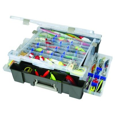 Flambeau Tackle Super Max Satchel Tackle Boxes (Clear, 17.25x16.75x5-Inch)