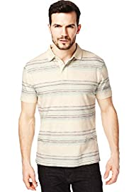 North Coast Pure Cotton Watercolour Multi-Striped Polo Shirt