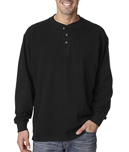 Ultra Club Adult Mini Thermal Henley, M, Black (Ultra Club Thermal compare prices)