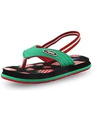 Beanz Strawberry White/Black/Green EVA Flip Flops For Girls Size 23 EU