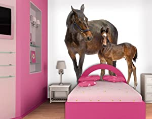 fototapete fototapeten tapete tapeten trakehner horses 300x280cm inkl kleister pferde. Black Bedroom Furniture Sets. Home Design Ideas