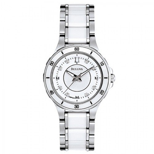White 98P124 Bulova Watch - Ladies Diamond Collection White 98P124 Bulova Watch - Ladies Diamond Co