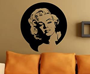 Marilyn Monroe Lovely Picture Face Wall Decal Decor Sticker...Large Art Deco Decor Photo by Value Decals