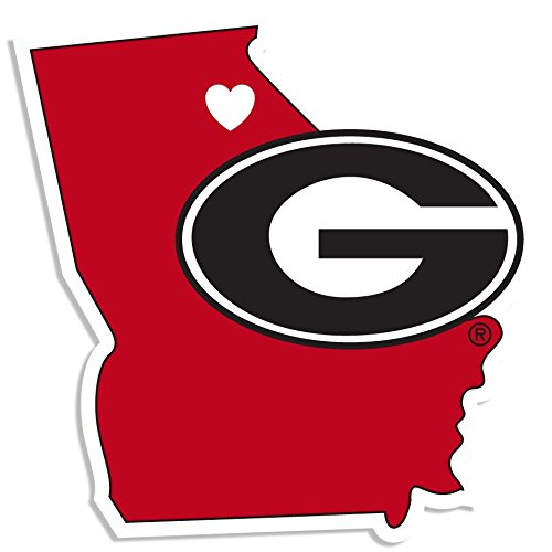 NCAA Georgia Bulldogs Home State Decal, 5 Inch (Georgia State University Decal compare prices)