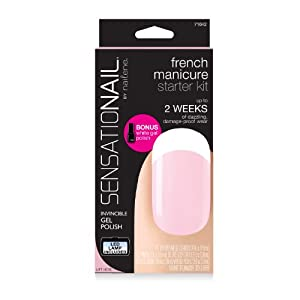 Sensationail gel polish starter kit - french manicure sheer pink