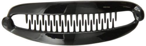 Caravan French Black Banana Clip With Ball Closure (Mane Clip compare prices)