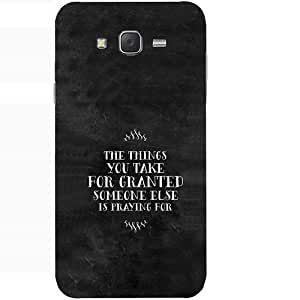 Casotec Motivational Quotes Design Hard Back Case Cover for Samsung Galaxy J7