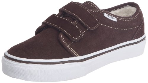 Vans 106 V Trainers Unisex-Child Brown Braun ((Fleece) espresso/true white) Size: 33