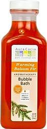 Aura Cacia Aromatherapy Bubble Bath, Warming Balsam Fir 13 fl oz (Pack of 2)