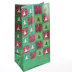 Christmas Tree Paper Treat Bags