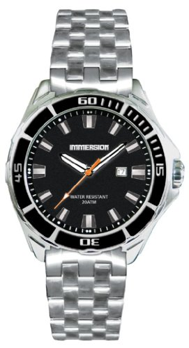 Immersion IM6868 Gents Watch Quartz Analogue Black Dial Grey Steel Strap