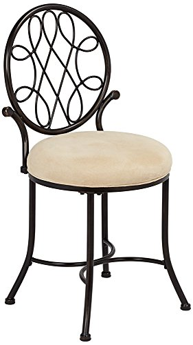 Best Review Of Hillsdale O'Malley Vanity Stool