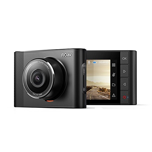 Roav Anker, DashCam A1, Dash Cam, Dashboard Camera Recorder, 1080P FHD, Nighthawk Vision, Wide-Angle View, WiFi, G-Sensor, WDR, Loop Recording Night Mode
