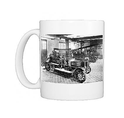 Photo Mug Of The Appliance Room At Holloway Fire Station front-627441