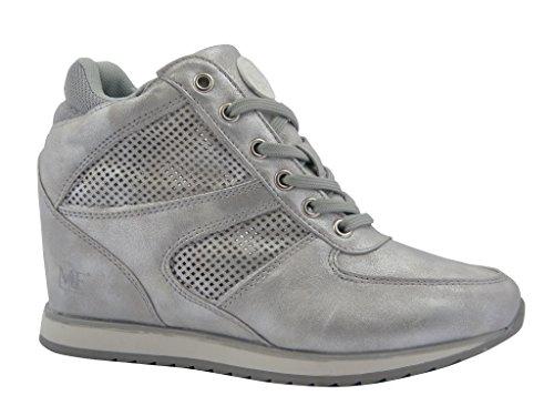 Sneaker donna Mercante di Fiori, scarpa in ecopelle con suola in gomma flessibile e antiscivolo, Estivo GN18