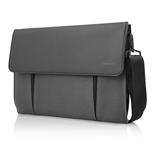 Targus Ultralife Thin Canvas Slipcase for Ultrabooks up to 14-Inch/13-Inch Macbook Air/Macbook Pro, Charcoal (TTS00504US)
