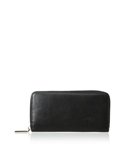Zenith Women's Zip-Around Wallet, Black As You See