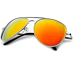 Polarized Bright Colorful Orange Revo Lens Classic Teardrop Aviator Sunglasses