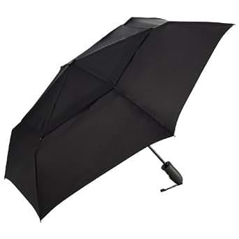 ShedRain Umbrellas Windjammer Vented Auto Open Auto Close Folding Umbrella, Black, One Size